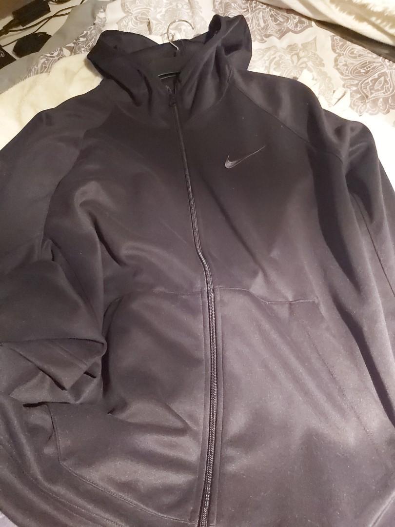 Nike dri fit black sweater Large