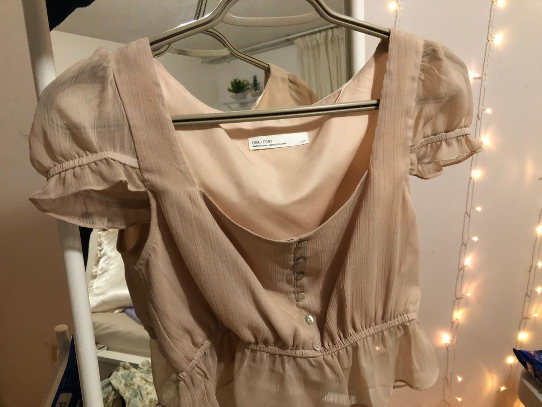 Oak and Fort blush top