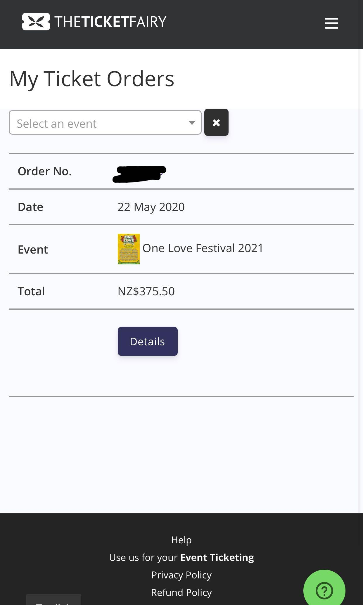One Love 2021 Festival Tickets