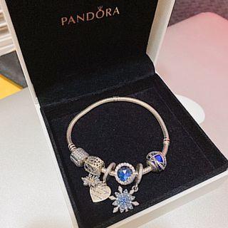 PANDORA 手鏈手鍊 藍色 雪花❄️ 交換禮物 聖誕節