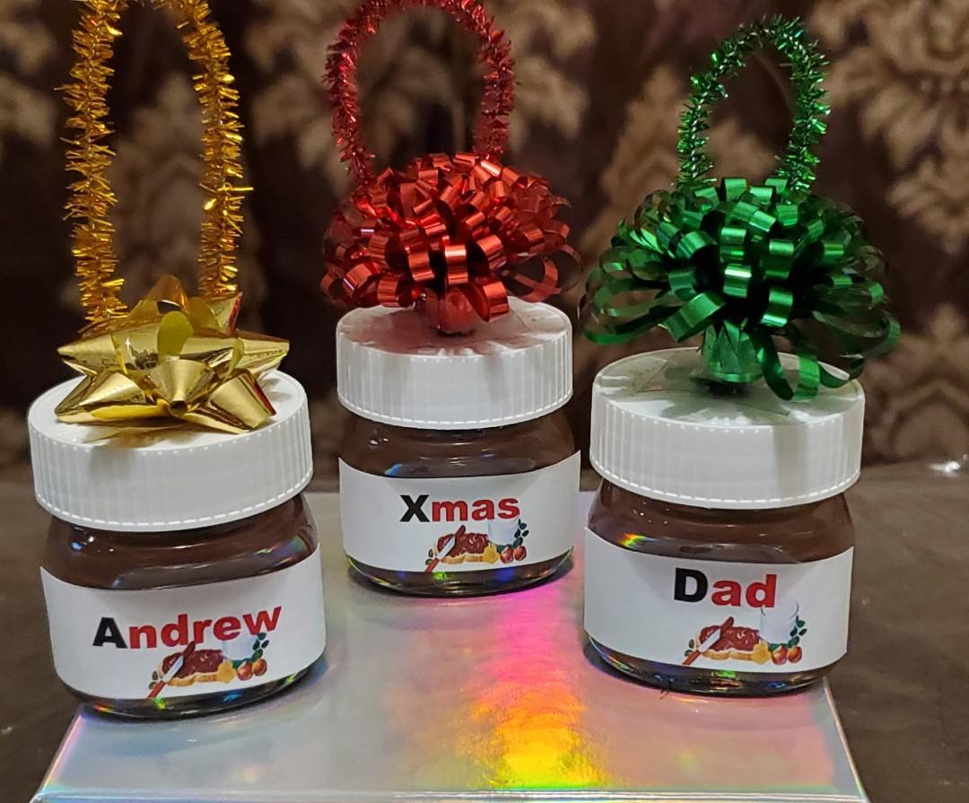 Personalized mini nutella jar & ornaments