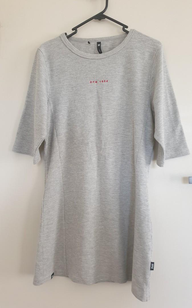 Rpm grey tshirt dress