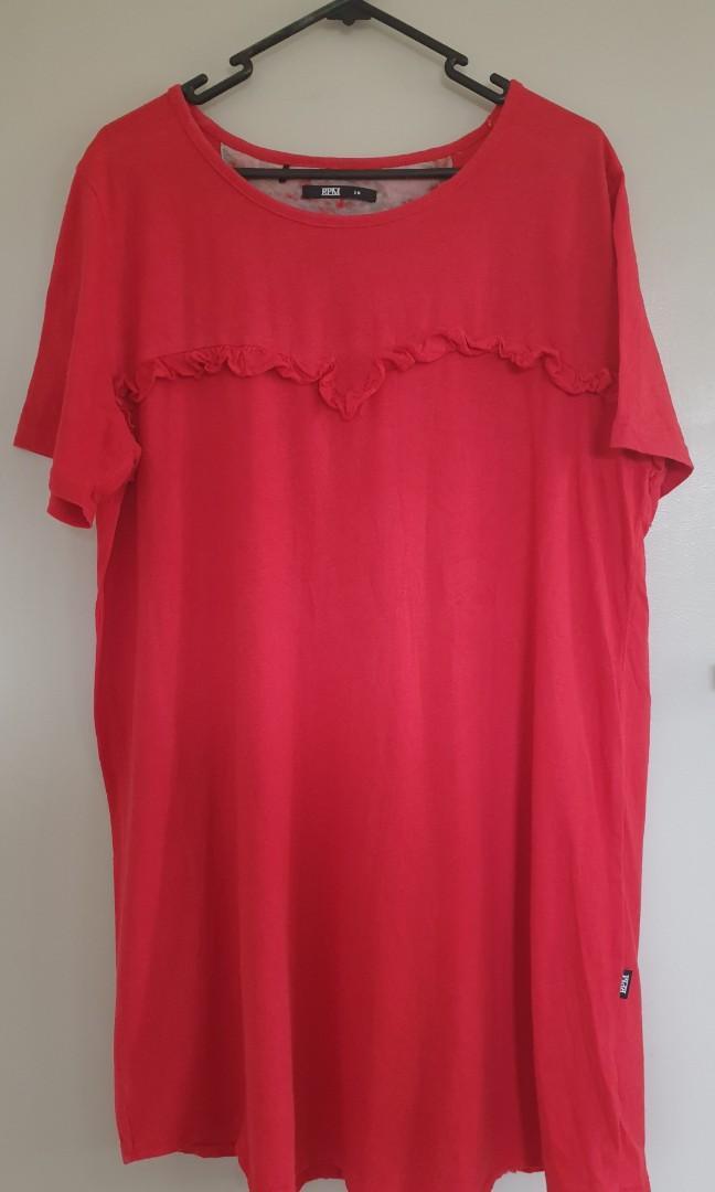 Rpm red tshirt dress