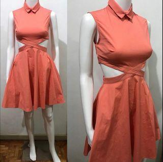 Opening Ceremony Tangerine Cut out dress