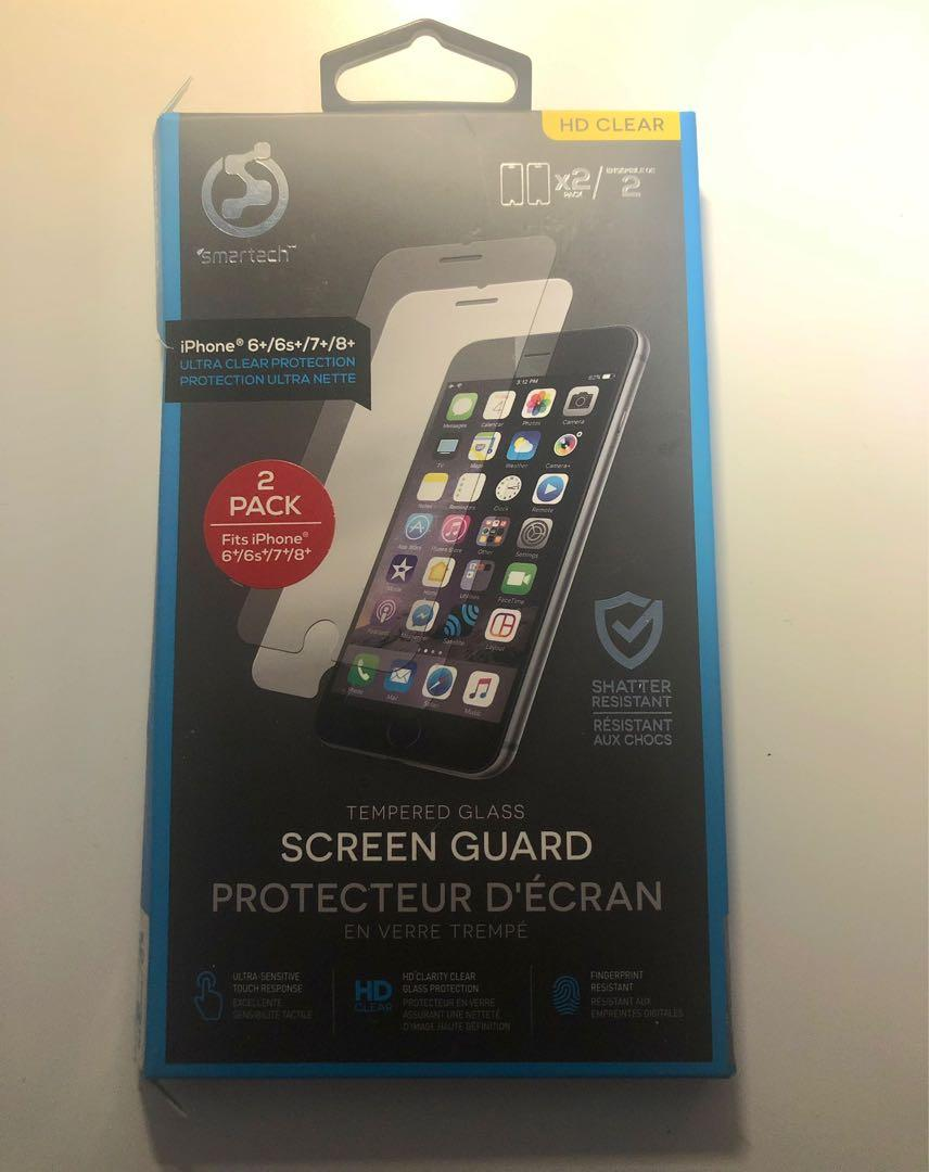Tempered glass screen protector (pack of 2)