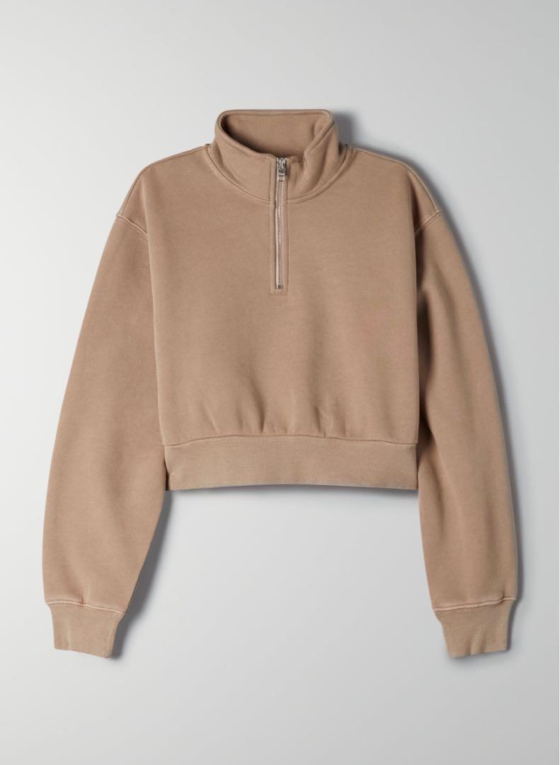 Tna COZYAF Perfect 1/4 Zip Sweatshirt (beige, size S)