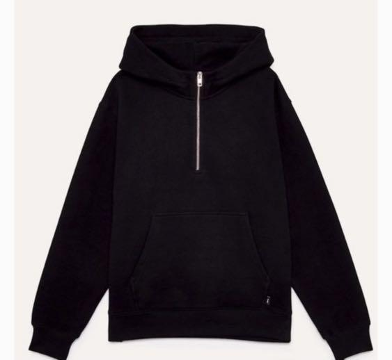 TNA half zipped hoodie (black size XS)