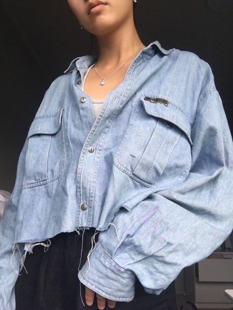 Vintage oversized button up