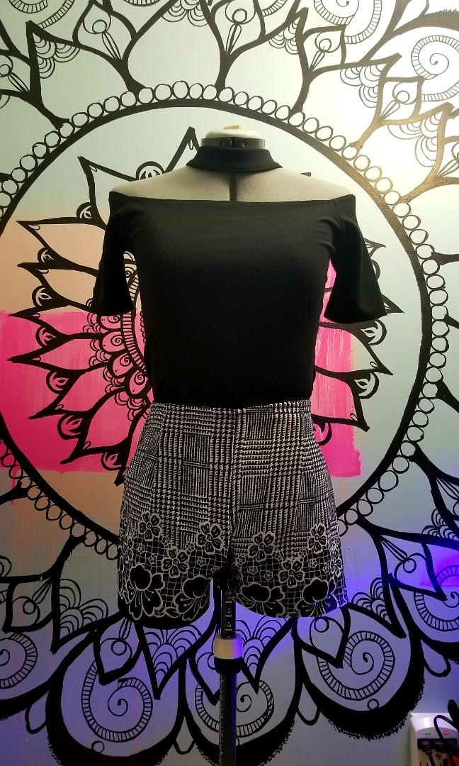 2pc Blouse and Shorts