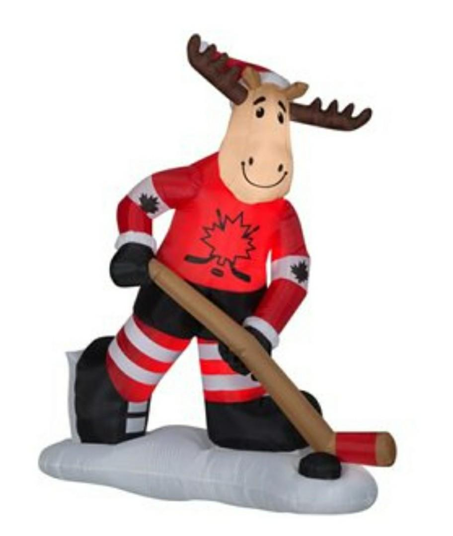 7-ft Hockey Moose Christmas Decoration Inflatable