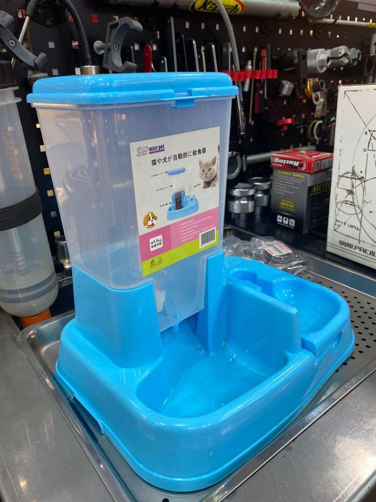 寵物自動給食器 給水器 可裝食約1.5kg