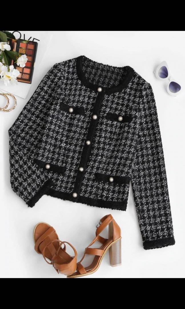 BNWT Button up tweed jacket
