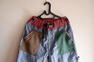 Celana Corak Vintage Boho