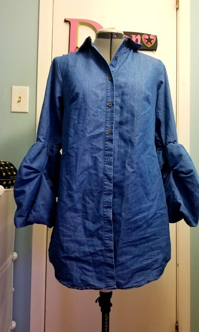 Denim Long Top/Dress