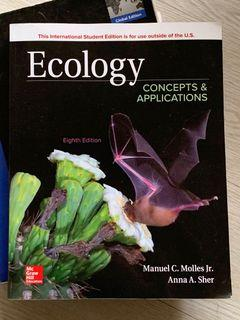Ecology: Concepts Applications 8th ed 生態學