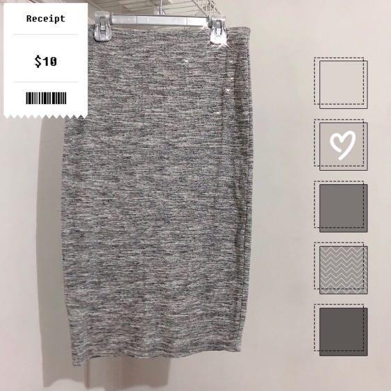 F21 Grey Skirt (Sz M)