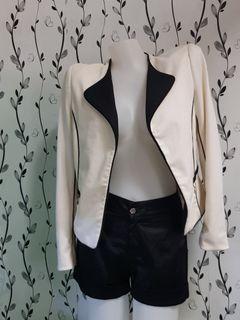 H&M cream coat