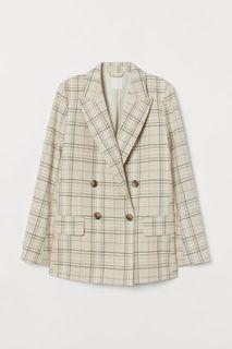 H&M Double-Breasted Blazer Straight Cut