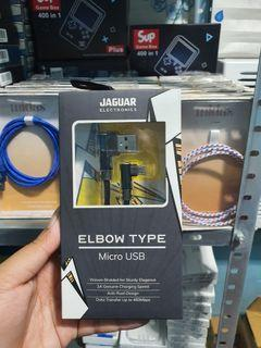 Jaguar Micro and Type Elbow Cable charger for Gamers charge while you play
