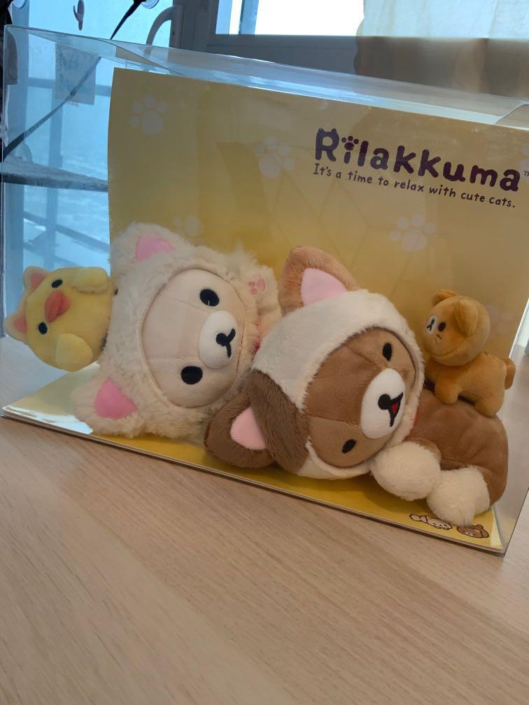 Japan Import Rilakkuma Cat Plushies