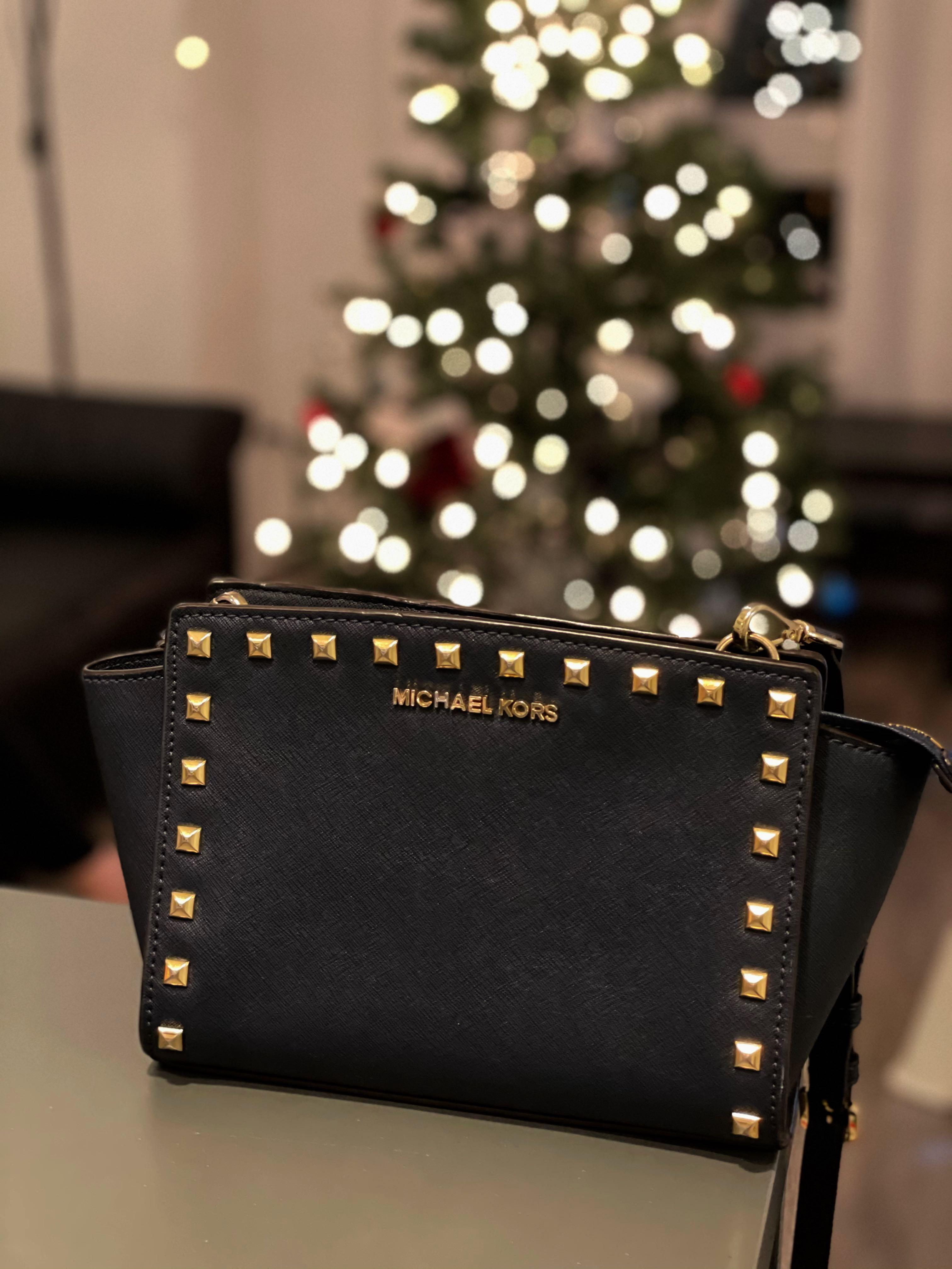 Michael Kors Selma Medium Studded Messenger Bag