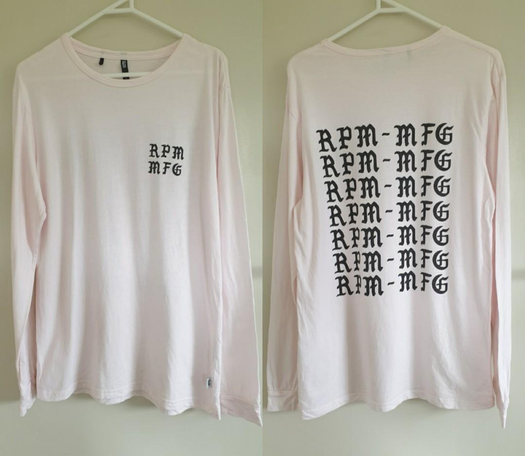 Rpm light pink long sleeve top