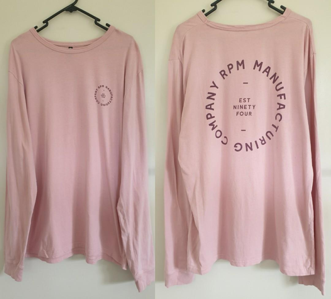 Rpm pink long sleeve top