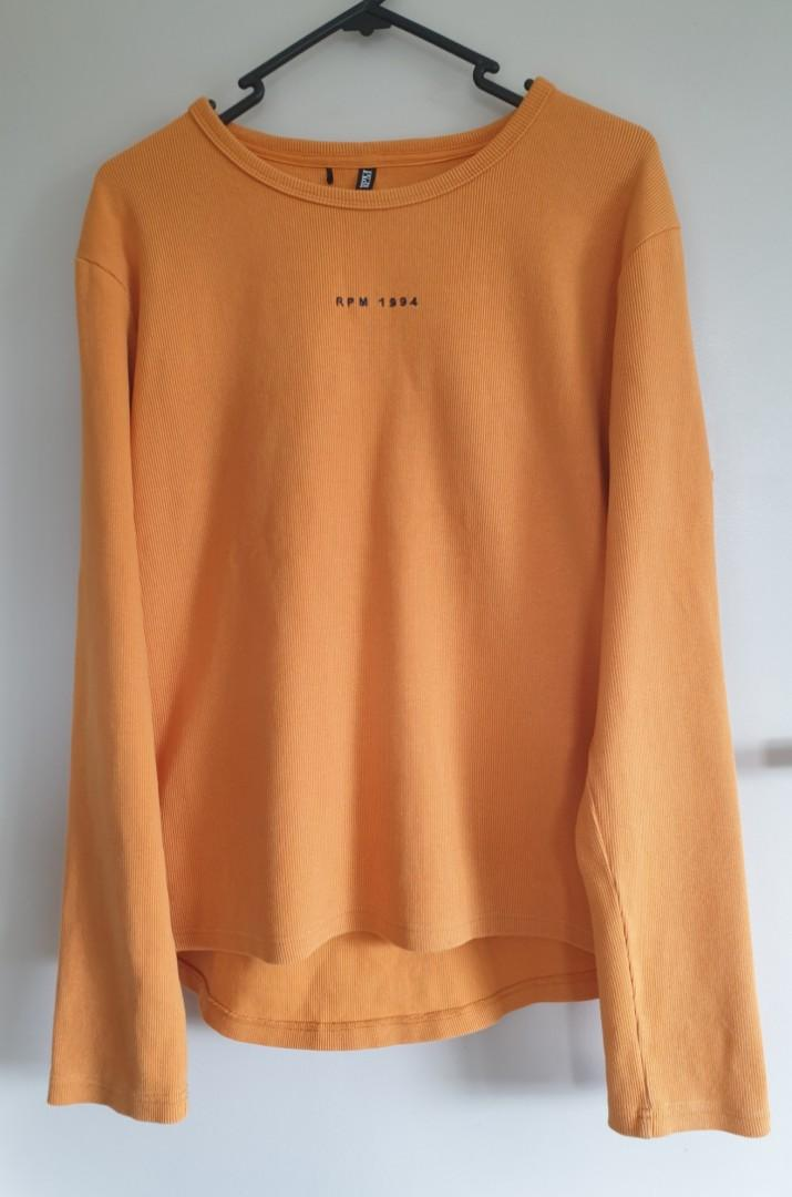Rpm ribbed long sleeve top