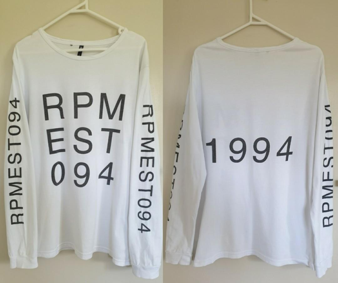 Rpm white long sleeve top