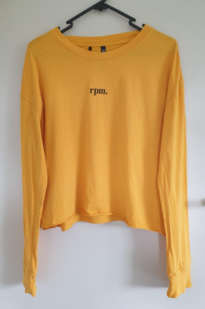 Rpm yellow long sleeve top