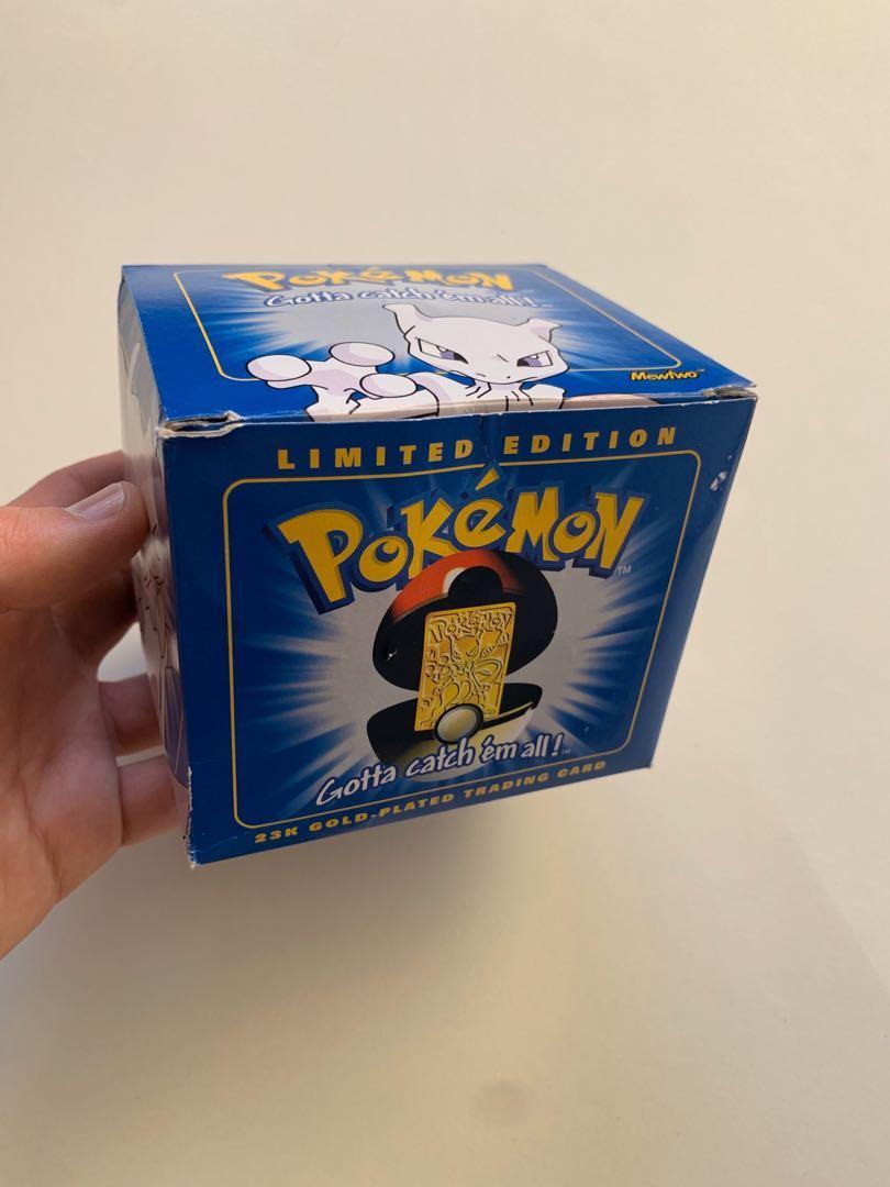 Vintage Pokémon 23k Gold-played Mewtwo