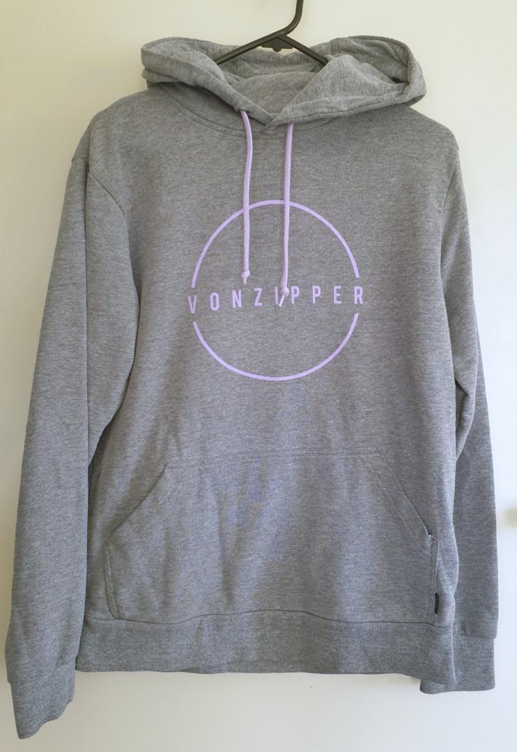 Vonzipper grey hoodie