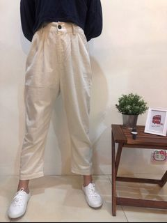 🚚 24H  🎉旋轉甜甜價🎉  米白直筒長褲👖/鬆緊直筒褲/百搭直筒褲/