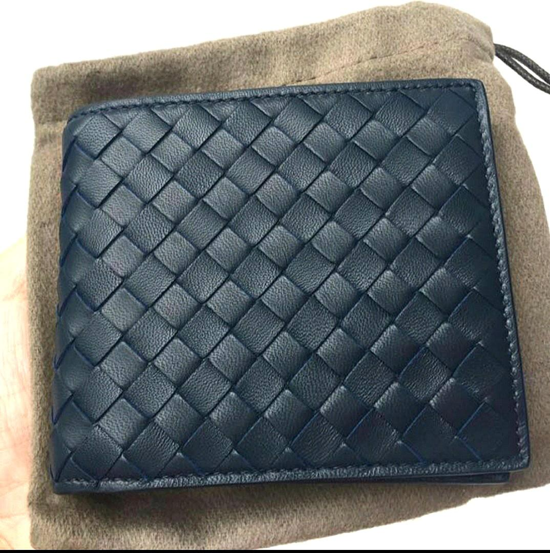 Used 100% Authentic - Bottega Veneta Wallet Blue (Coin) lv prada ferragamo gucci loafer suit ipad iphone apple rolex ap panerai card