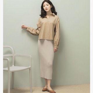 近全新 Meierq 後開衩坑條針織鉛筆裙 原價590元
