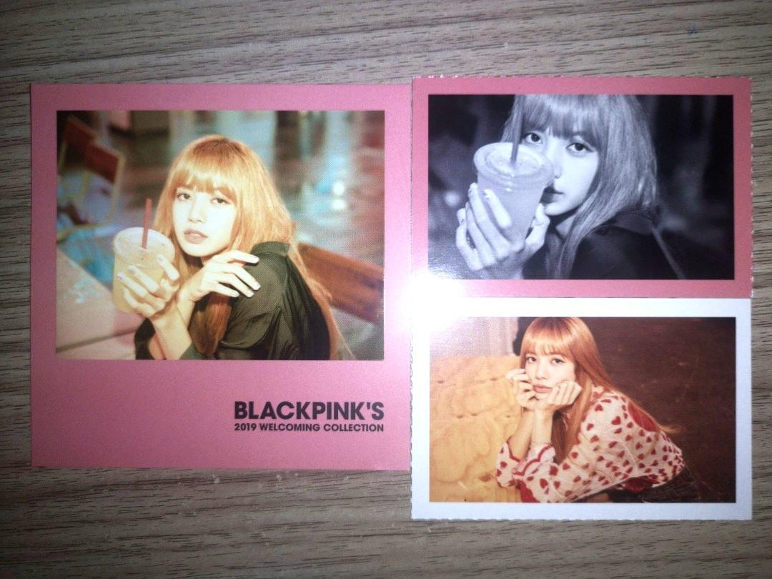【WTS】BLACKLINK LISA PHOTOCARDS AND POLORAID FROM 2019 WELCOMING COLLECTION