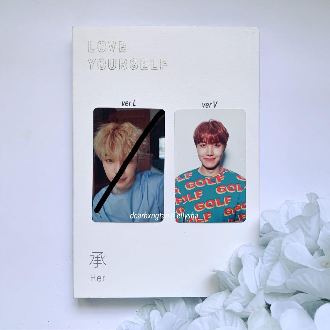 [WTT] BTS LOVE YOURSELF HER OFFICIAL PHOTOCARD: JIMIN & J-HOPE FOR SUGA