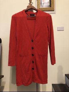 Giordano/ ladies紅洋裝外套