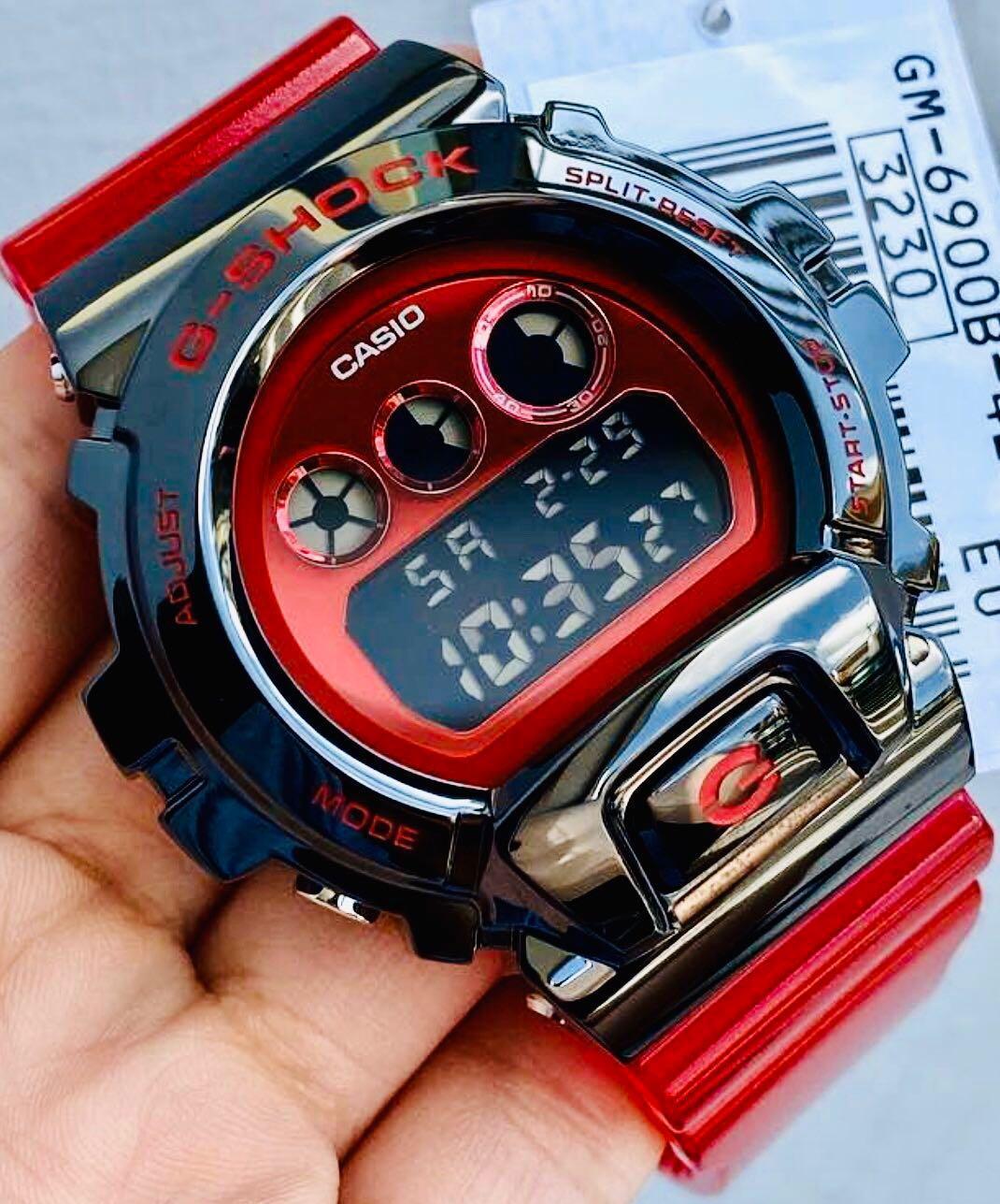 NEW🌟EDITION : GSHOCK UNISEX DIVER SPORTS WATCH : 100% ORIGINAL AUTHENTIC CASIO G-SHOCK : GM-6900-1 / GM-6900B-4 / GM-6900G-9 / DW-6900 series