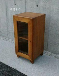 【可陽木作】原木柚木色單門兩層櫃 / 單門置物櫃 / 收納櫃 / 書櫃 / 衣櫃 櫥櫃