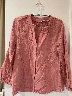 Just Jeans Pink Cotton Blouse