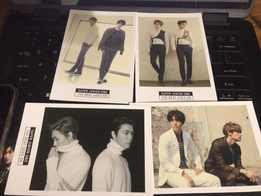 Super Junior - D&E The Beat Goes On Official Postcard