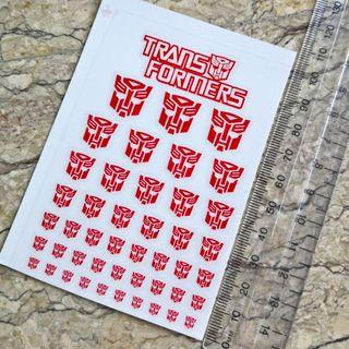 Autobot Faction Decal (clear / no border)