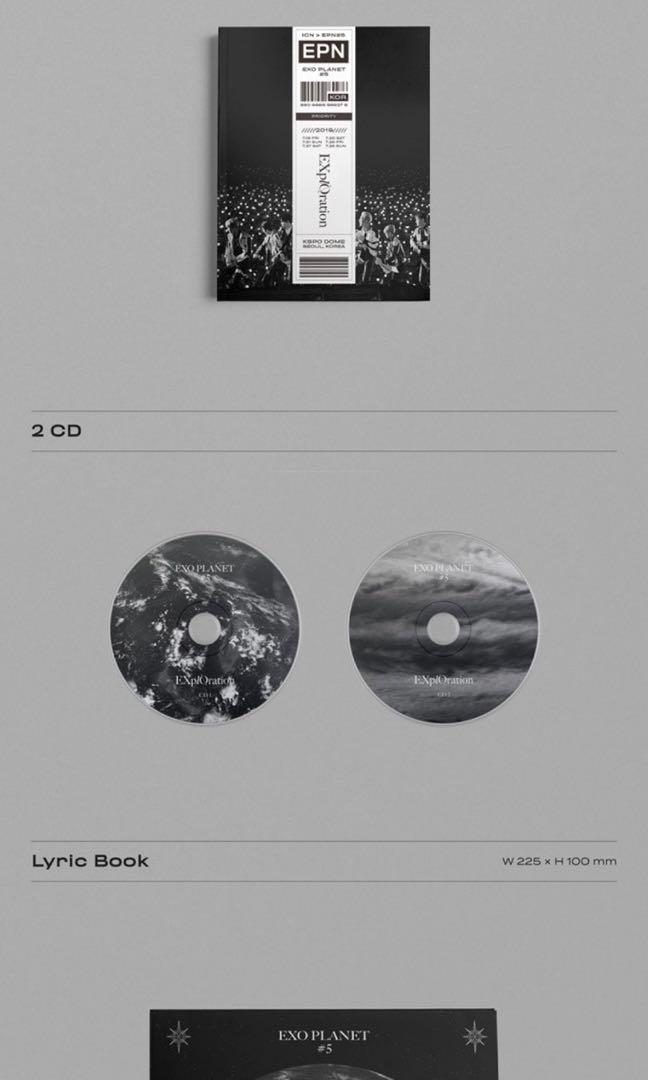 EXO PLANET #5 - EXPLORATION CONCERT PHOTOBOOK & LIVE ALBUM