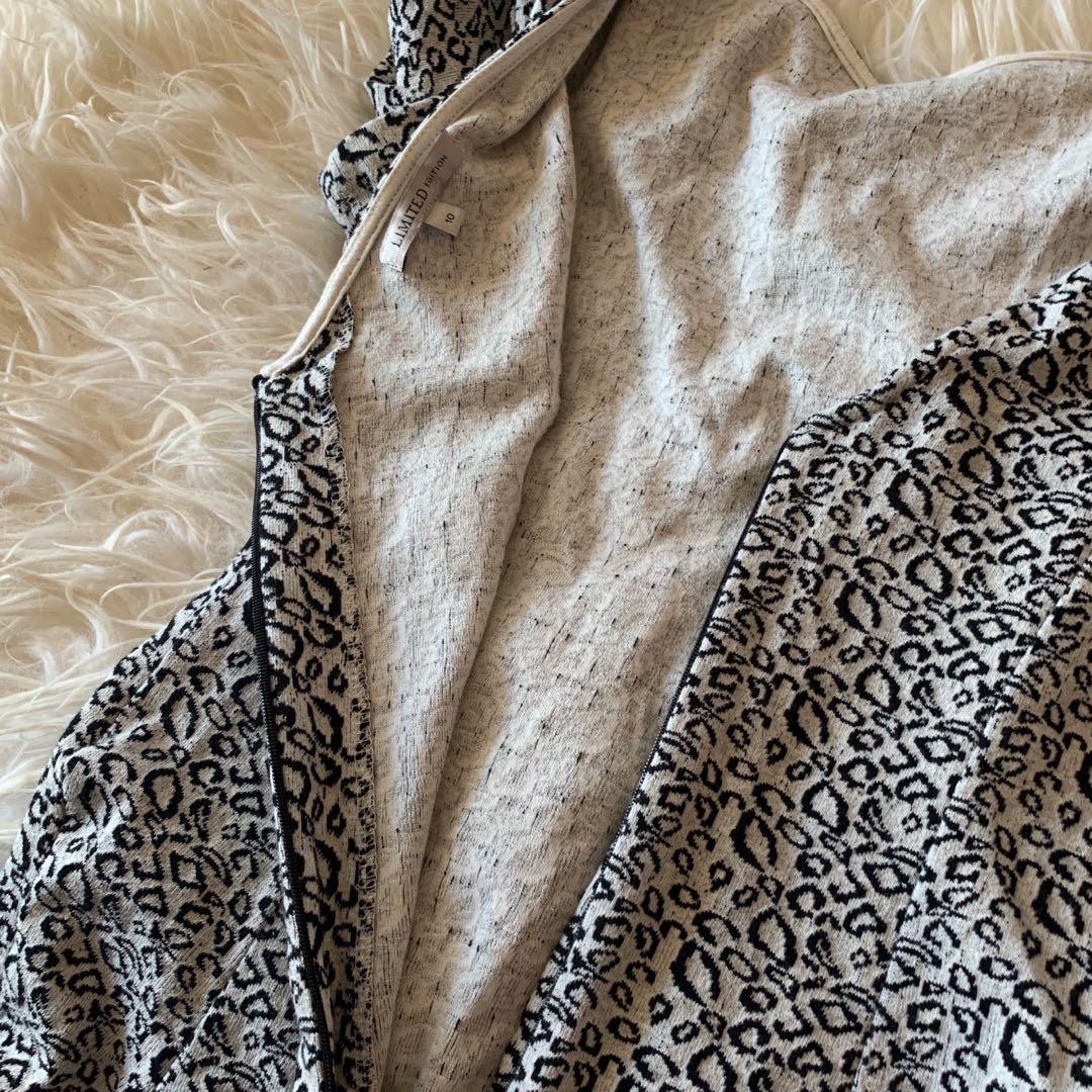 leopard print mini dress with mini side slits
