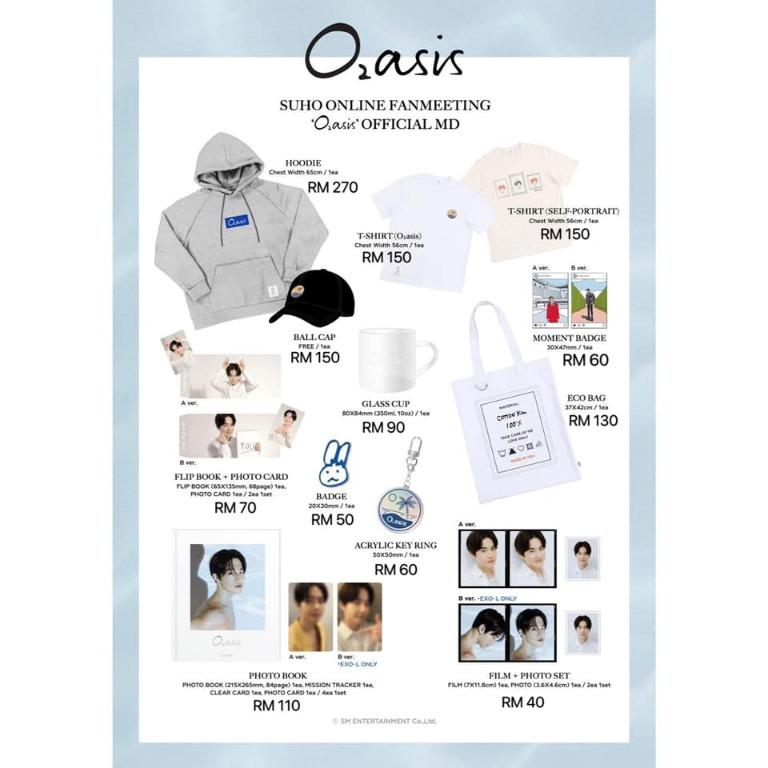 """[Pre-order] SUHO 수호 -  ONLINE FANMEETING """"O2asis"""" OFFICIAL MD"""
