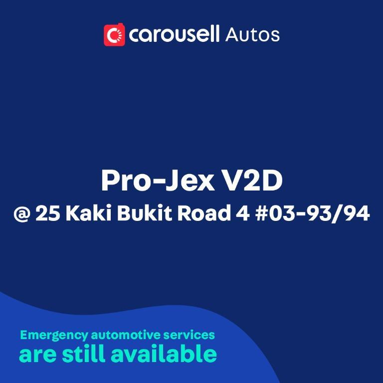 Pro-Jex V2D - Emergency automotive services still available