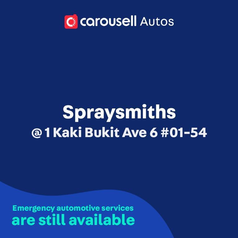 Spraysmiths - Emergency automotive services still available