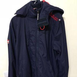 Superdry深藍紅標保暖外套