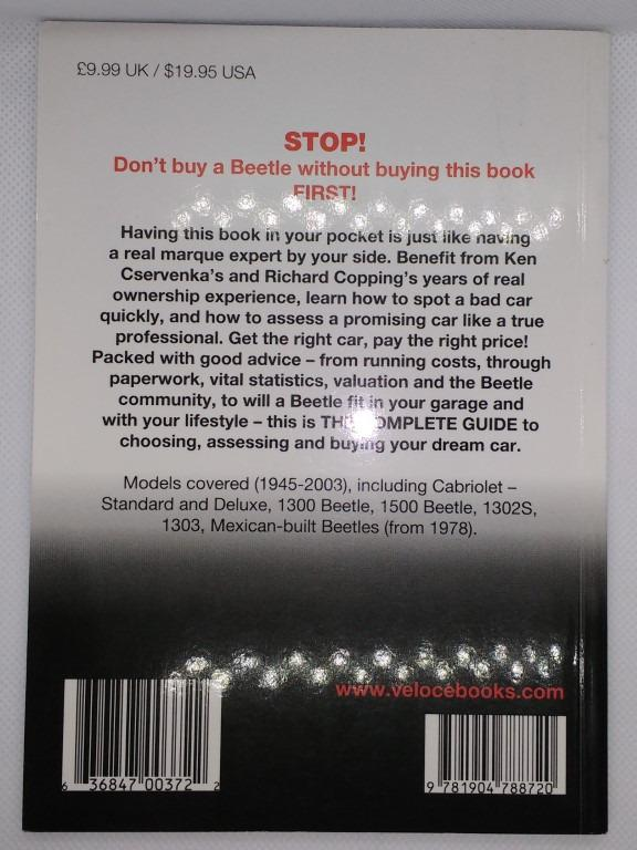 The Essential Buyer's Guide to the Volkswagen Beetle book trade paperback New